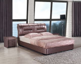 Кровать корейского типа роскошная итальянская неподдельная белая самомоднейшая кожаный