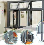 De uitstekende kwaliteit ontwerpt goed Aluminium dat de Vensters van het Glas vouwt
