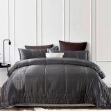 Comforter da seda do tamanho 100% da rainha do preto do tipo de Thx