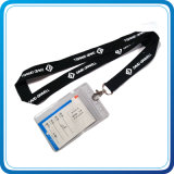 Printed de encargo Lanyard con PVC/Leather Card Holder Lanyard para Promotional Gift