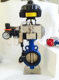Actuador neumático rotatorio de estante y del piñón con la válvula del filtro de aire del rectángulo de interruptor de límite y electromagnética