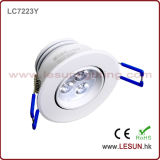 3W enfoncé DEL Ceiling Cabinet Light LC7223y