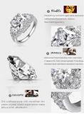 O ouro novo dos anéis de casamento 18k de Lzeshine 2015/o micro anjo chapeado platina do Zircon do embutimento voa anéis Por atacado Anillos De Boda