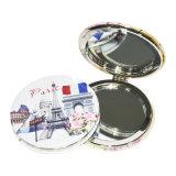 Vollständige Verkaufs-neue Art doppelseitiger faltender kosmetischer PU-Spiegel