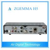 H. 265 T2 combinado DVB C Zgemma H5 del decodificador DVB S2 DVB de la TV