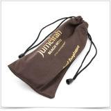 Bolsa suave de las gafas de sol de Microfiber con el sellado de oro