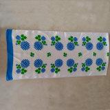 Sciarpa lunga tovagliolo blu del fiore del raso della seta di 100% del piccolo