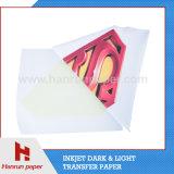 Papel ligero de la prensa del calor del papel de imprenta del traspaso térmico de la camiseta
