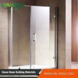 Cabine de canto do chuveiro do banheiro moderno grande