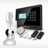 Kit d'alarme sans fil PIR / Capteur de porte / fumée / gaz pour la protection de sécurité