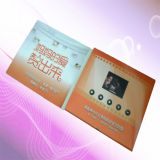 2.4 поздравительная открытка брошюры Card/LCD дюйма TFT-LCD/видео- рекламируя Красная книга