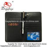 Wa9118中国の卸し売り革パスポートのホールダーの黒のパスポートカバー