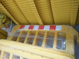 Plastic Barrière van de Verkeersveiligheid van Spanje en van Italië de Gele Draagbare