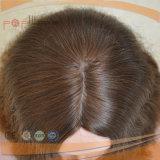 A franja Charming golpeia a peruca amarrada do laço da pele da parte alta da cor de Brown mão cheia superior morna