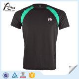 Coolmaxの通気性の体操のTシャツの人のための最上質の体操の摩耗