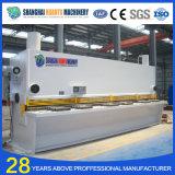 Máquina de corte hidráulica da placa da liga do CNC de QC12y
