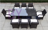 Mobília sintética clássica popular do Rattan do PE do projeto da forma ao ar livre
