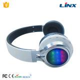 Auricular sin hilos de Bluetooth de la manera que brilla intensamente con el rectángulo de color