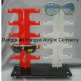 De dubbele Plank van de Vertoning van de Zonnebril van de Verkoop van de Fabriek Directe Acryl (hy-YXA0016)