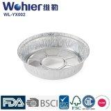 Envase de encargo dividido de plata del papel de aluminio de las cacerolas de hornada del papel de aluminio