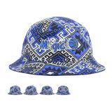 Cappello piano della benna di marchio del ricamo della parte superiore rotonda del bordo di alta qualità