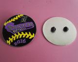 Pin de revers d'émail du base-ball de base-ball de moulage mécanique sous pression, Pin de revers de 2016 de Smackers du base-ball embrayages en caoutchouc
