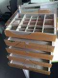 Boîte de présentation acrylique de bijou dans le système de mémoire, cadres de tiroir de bijou