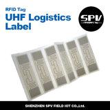 ISO 18000-6C del extranjero H3 9640 del papel revestido de la etiqueta de la frecuencia ultraelevada de la logística de RFID