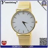 Do seletor redondo goldtone da faixa do engranzamento de Genebra das mulheres do relógio de forma Yxl-793 2016 relógio de pulso análogo de quartzo