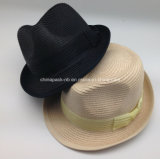 Ladys Polybroid Fedora Hats mit Organza Ribbon