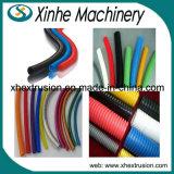 Single-Screw PVC Single-Wall 물결 모양 관 생산 라인 PE 플라스틱 압출기