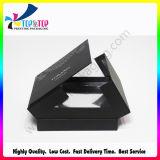 卸し売り無光沢のラミネーションの点紫外線OEMデザイン黒の紙箱