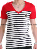 Piste avec Cotton de Contrast Fabric Men/Spandex Jersey T Shirt
