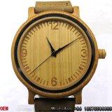 最上質の炭化されたタケ腕時計の水晶腕時計Hl18