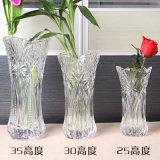 Vaso floreale di vetro di stile di cerimonia nuziale del vaso a cristallo alto europeo domestico della decorazione