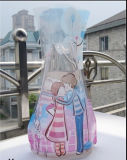Beau sac en plastique transparent en PVC avec motif