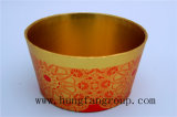 Rectángulo de regalo oval del papel del almacenaje del color anaranjado