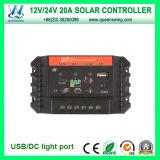 20A 12/24V Auto LED Solar Charge Controller (QWP-SC2024U)
