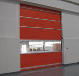 Моторизованная высокоскоростная быстрая дверь завальцовки для Cleanroom