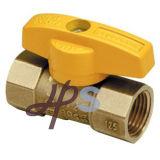 Robinet en laiton de gaz avec poignée papillon / En331 standard