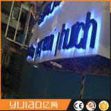 Знаки письма металла напольный рекламировать освещенные контржурным светом