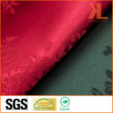 Pano de tabela largo da largura do projeto do damasco de Rosa do jacquard da qualidade do poliéster