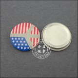 Pin redondo de la solapa de la impresión de la lata de la divisa colorida del botón (HY-MKT-0018)
