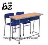 合板の机のプラスチック椅子はセットした(BZ-0030)