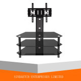 Smart Designlcd LED Plasma TV Stand met Oval Aluminium Tube