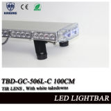 Tir Lens Police Car Telhado de montagem LED Green Warning Head Light intermitente com White Takedowns e Alley Lights