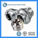 Ss304 de Materiaal Vastgeklemde Klep van de Controle van het Type Sanitaire