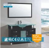 現代デザイン標準的なミラーの固体木の浴室用キャビネットの家具