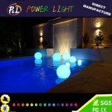 Esfera de flutuação da piscina do fulgor do diodo emissor de luz da decoração do jardim