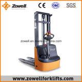 Apilador eléctrico de la venta caliente con 1.2 altura de elevación de la capacidad de carga de la tonelada 2.5m